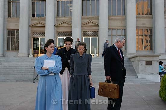 San Angelo - a 14-day hearing at the 51st District (Tom Green County) Courthouse to decide the fate of 416 children removed in a raid from the FLDS Church's YFZ Ranch. Friday April 18, 2008. Annette