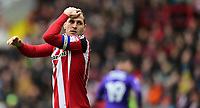 Sheffield United's Billy Sharp reacts after missing a chance in the second half<br /> <br /> Photographer Chris Vaughan/CameraSport<br /> <br /> The EFL Sky Bet League One - Sheffield United v Charlton Athletic - Saturday 18th March 2017 - Bramall Lane - Sheffield<br /> <br /> World Copyright &copy; 2017 CameraSport. All rights reserved. 43 Linden Ave. Countesthorpe. Leicester. England. LE8 5PG - Tel: +44 (0) 116 277 4147 - admin@camerasport.com - www.camerasport.com