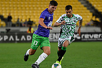 Liberato Cacace of Wellington Phoenix during the A League - Wellington Phoenix v Western United FC at Sky Stadium, Wellington, New Zealand on Friday 21 February 2020. <br /> Photo by Masanori Udagawa. <br /> www.photowellington.photoshelter.com