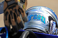 3-4 May 2008, Pickwick,TN USA.Todd Beckman's helmet and gloves await racetime..©2008 F.Peirce Williams