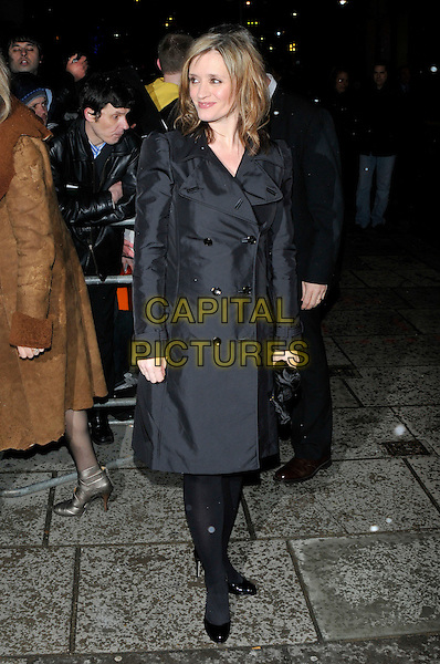 ANNE-MARIE DUFF.Attending the London Evening Standard British Film Awards 2010, The Movieum of London, County Hall, London, England, UK, February 8th 2010..outside arrivals full length black trench coat  anne marie tights patent shoes pregnant .CAP/PL.©Phil Loftus/Capital Pictures.