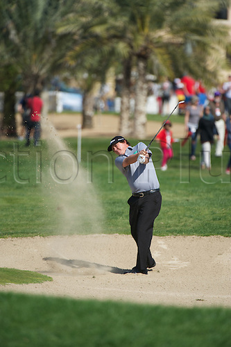19.01.2013 Abu Dhabi, United Arab Emirates. Jason Dufner in action during the European Tour HSBC Golf championship  third round from the Abu Dhabi Golf Club.
