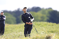 Jack Singh Brar (ENG) in the rough on the 3rd during Round 2 of the Betfred British Masters 2019 at Hillside Golf Club, Southport, Lancashire, England. 10/05/19<br /> <br /> Picture: Thos Caffrey / Golffile<br /> <br /> All photos usage must carry mandatory copyright credit (&copy; Golffile | Thos Caffrey)
