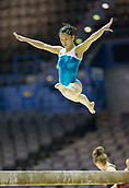 21st March 2018, Arena Birmingham, Birmingham, England; Gymnastics World Cup, day one, womens competition;  Shogo Nonomura (JPN) on the Balance Beam during  Training