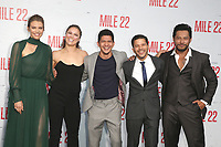 LOS ANGELES, CA - AUGUST 9: Lauren Cohan, Ronda Rousey, Iko Uwais, Carlo Alban and Sam Medina at the Mile 22 premiere at The Regency Village Theatre in Los Angeles, California on August 9, 2018. Credit: Faye Sadou/MediaPunch