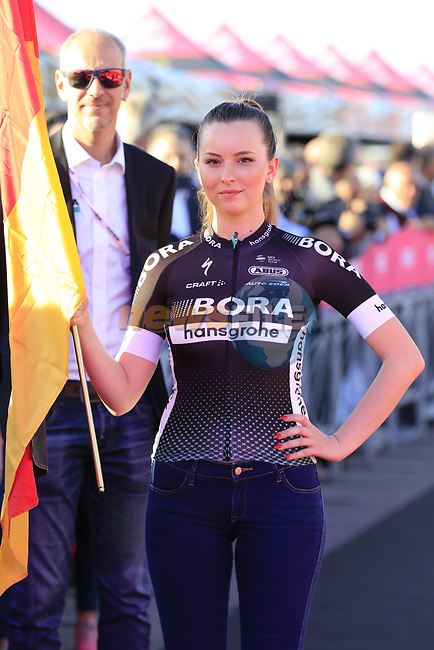 Bora-Hansgrohe at the Team Sam Bennett (IRL) Presentation in Alghero, Sardinia for the 100th edition of the Giro d'Italia 2017, Sardinia, Italy. 4th May 2017.<br /> Picture: Eoin Clarke | Cyclefile<br /> <br /> <br /> All photos usage must carry mandatory copyright credit (&copy; Cyclefile | Eoin Clarke)