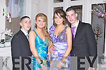BALL: Having a great time at the Rathmore Presentation debs at the Earl of Desmond hotel on Friday l-r: Michael Lowe, Rebecca Buckley, Rose Kelliher and Tommy Murphy.