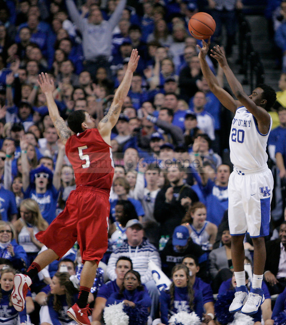 Mike James of Lamar University guards Doron Lamb in the second half of the game at Rupp Arena, on Wednesday, Dec. 28, 2011. Kentucky won 86-64. Photo by Taylor Moak | Staff ..