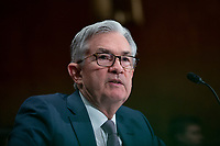 Chair of the Federal Reserve Jerome Powell testifies before the U.S. Senate Committee on Banking, Housing, and Urban Affairs at the United States Capitol in Washington D.C., U.S. on Wednesday, February 12, 2020.  <br /> <br /> Credit: Stefani Reynolds / CNP/AdMedia