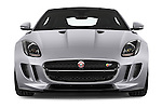 Car photography straight front view of a 2015 Jaguar F-Type S 3 Door Coupe 2WD Front View