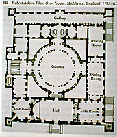 Plan of Syon House, Middlesex, England, 1762-63. Designed by Robert Adam.