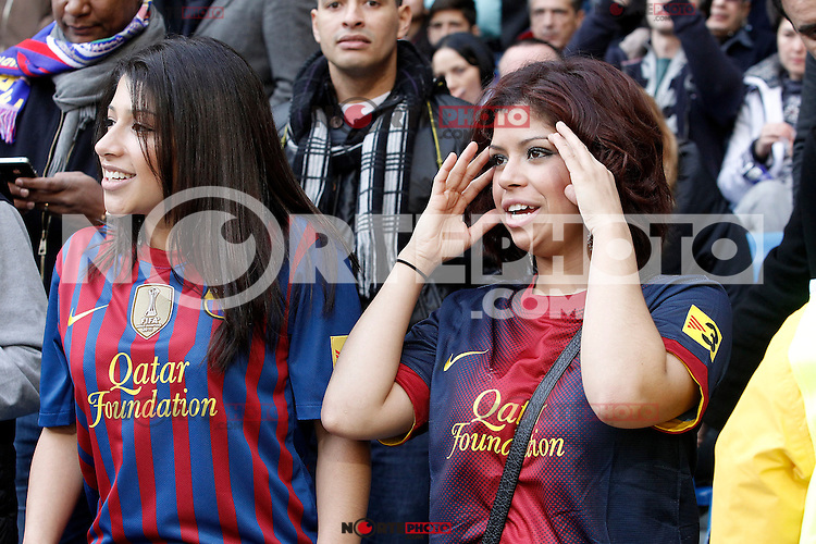 FC Barcelona's supporters during La Liga match.March 02,2013. (ALTERPHOTOS/Acero) /NortePhoto