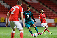 Yan Dhanda of Swansea City in action during the Sky Bet Championship match between Charlton Athletic and Swansea City at The Valley, London, England, UK. Wednesday 02 October 2019