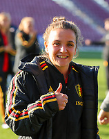 20191008 CLUJ NAPOCA: Belgium's Davina Philtjens is pictured before the match between Belgium Women's National Team and Romania Women's National Team as part of EURO 2021 Qualifiers on 8th of October 2019 at CFR Stadium, Cluj Napoca, Romania. PHOTO SPORTPIX | SEVIL OKTEM