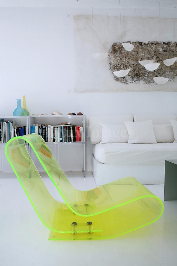 contemporary plexiglas chair