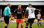 John Fleck of Sheffield Utd  gets his point across to Andre Bikey of Port Vale during the English League One match at Vale Park Stadium, Port Vale. Picture date: April 14th 2017. Pic credit should read: Simon Bellis/Sportimage