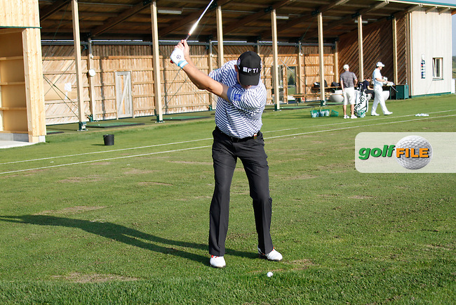 Padraig Harrington (IRL) on the practice range before starting his match during Sunday's Final Round of the Austrian Open presented by Lyoness at the Diamond Country Club, Atzenbrugg, Austria, 25th September 2011 (Photo Eoin Clarke/www.golffile.ie)