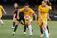 June 7, 2016: LISA DE VANNA (11) of Australia controls<br /> the ball during an international friendly match between the Australian Matildas and the New Zealand Football Ferns as part of the teams' preparation for the Rio Olympic Games at Etihad Stadium, Melbourne. Photo Sydney Low