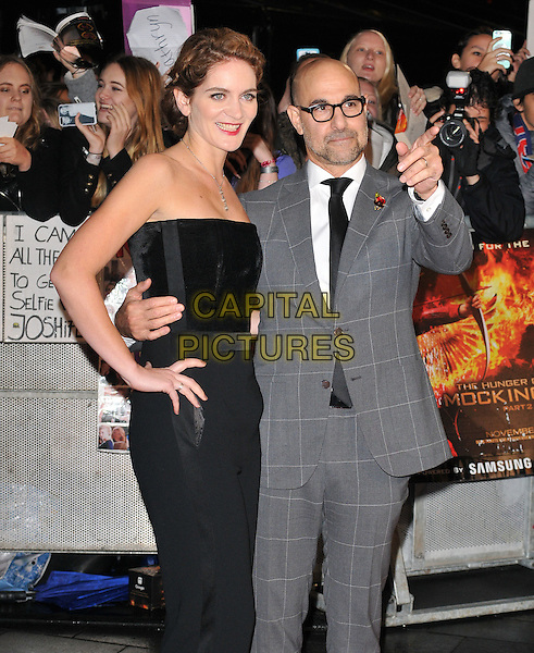 Felicity Blunt &amp; Stanley Tucci attend the , Odeon Leicester Square, Leicester Square, London, England, UK, on Thursday 05 November 2015. <br /> CAP/CAN<br /> &copy;CAN/Capital Pictures