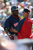 March 17th 2008:  David Ortiz of the Boston Red Sox during a Spring Training game at Legends Field in Tampa, FL.  Photo by:  Mike Janes/Four Seam Images