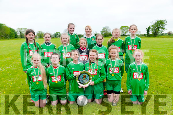 Listowel Celtic U/12: Listowel Celtic U/12 girls who  won the U/12 Kerry Girls Shield by defeating Camp 5 - 2 on Sunday last. Front : Leonie Walz, Nicola Kennelly, Ciara Henderson, Captain, Ava Horan Captain, Kelly Enright & McKenzie Mulvihill. Centre : Mary Kearney, Ella Buckley, Saoirse Kelly, Taylor Lynch, Ruth O'Connor, Lilly Twomey & Jane Flannagan. Back ; Coaches Caragh Kelly & Philomena Bates.