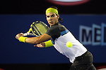 Rafael Nadal (ESP) in action on day 6 of the Australian Open Tennis against Tommy Haas (GER)  , 24-1-09