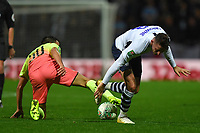 Preston North End's Alan Browne is tackled by Manchester City's Eric Garcia<br /> <br /> Photographer Dave Howarth/CameraSport<br /> <br /> The Carabao Cup Third Round - Preston North End v Manchester City - Tuesday 24th September 2019 - Deepdale Stadium - Preston<br />  <br /> World Copyright © 2019 CameraSport. All rights reserved. 43 Linden Ave. Countesthorpe. Leicester. England. LE8 5PG - Tel: +44 (0) 116 277 4147 - admin@camerasport.com - www.camerasport.com