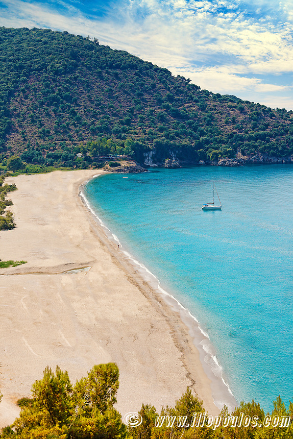 Karavostasi beach in Perdika, Greece