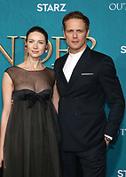 "13 February 2020 - Hollywood, California - Caitriona Balfe, Sam Heughan. the Premiere Of Starz's ""Outlander"" Season 5 held at Hollywood Palladium. Photo Credit: FS/AdMedia /MediaPunch"