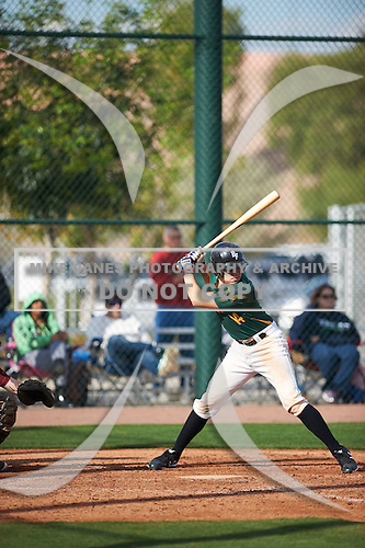 Ethan Cloyd (14) of Dunn High School in Bakersfield, California during the Under Armour All-American Pre-Season Tournament presented by Baseball Factory on January 14, 2017 at Sloan Park in Mesa, Arizona.  (Zac Lucy/Mike Janes Photography)
