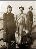 BNPS.co.uk (01202 558833)<br /> Pic: AR/BNPS<br /> <br /> Irena and Katarzyna after release from the Gulag in 1942.<br /> <br /> A poignant survivor from a Polish family caught up in the deadly twists of twentieth century history has come to light.<br /> <br /> Victoria Wilson took to the Antiques Roadshow the diamond encrusted brooch kept hidden by her great grandmother Katarzyna Krauze after she was arrested and thrown in the Gulag by invading Russian troops in 1939.<br /> <br /> The prosperous Catholic family lived in Horochow in what was then Eastern Poland when the Russians invaded, and Katarzyna quickly sewed the gold brooch into the seam of her cardigan to hide it from her captors <br /> <br /> After being thrown into a harsh labour camp, where her husband died of pnuemonia, Katarzyna had all her possession taken from her by guards - except for her cardigan.<br /> <br /> After the Russians changed sides in 1941 Katarzyna and her 18-year-old daughter Irena were released and they eventually fled to England via Persia and Palastine.
