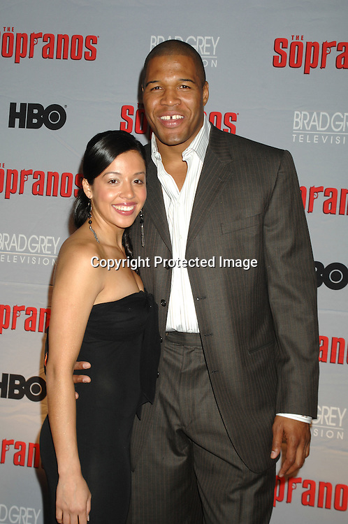 Michael Strahan and Stephaine Vara..arriving at The Sopranos World Premiere of two new episodes of the HBO original series on March 27, 2007 at..Radio City Music Hall in New York...Robin Platzer, Twin Images
