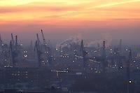 Deutschland, Hamburg, Hafen, Sonnenuntergang, Blom und Voss
