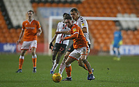 Blackpool's Jordan Thompson shields the ball from Charlton Athletic's Joe Aribo<br /> <br /> Photographer Stephen White/CameraSport<br /> <br /> The EFL Sky Bet League One - Blackpool v Charlton Athletic - Saturday 8th December 2018 - Bloomfield Road - Blackpool<br /> <br /> World Copyright &copy; 2018 CameraSport. All rights reserved. 43 Linden Ave. Countesthorpe. Leicester. England. LE8 5PG - Tel: +44 (0) 116 277 4147 - admin@camerasport.com - www.camerasport.com