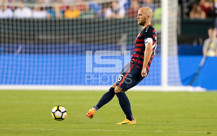 Philadelphia, PA - Wednesday July 19, 2017: Michael Bradley during a 2017 Gold Cup match between the men's national teams of the United States (USA) and El Salvador (SLV) at Lincoln Financial Field.