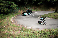 restday training & recon ride over the stage 10 iTT course with Rafal Majka (POL/Bora-Hansgrohe)<br /> <br /> restday 1 in Pau (FRA)<br /> La Vuelta 2019<br /> <br /> ©kramon