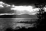 Moody Black and white look at Lake Tahoe near Hidden Beach