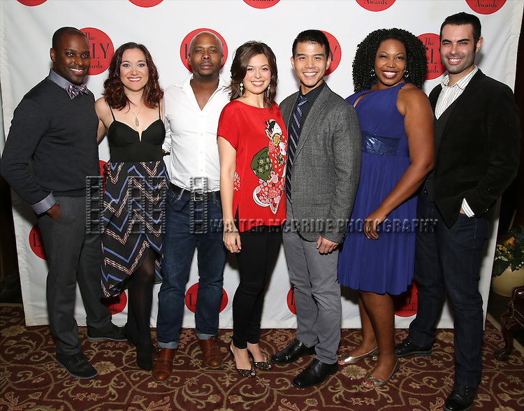 The cast of 'In Transit' attends The Lilly Awards Broadway Cabaret at the Cutting Room on October 17, 2016 in New York City.
