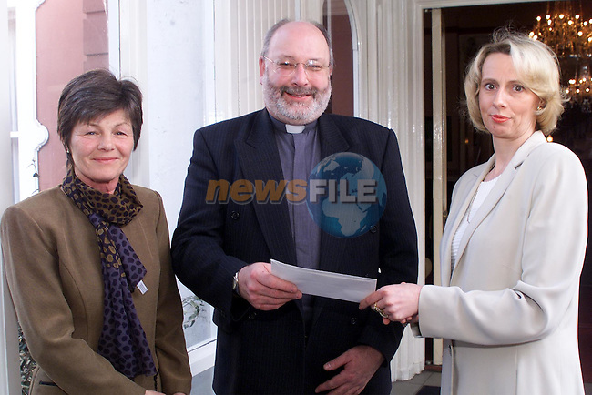 Adri Bernry, president of the Inner-wheel club, Rev. Micheal Graham and secretary, Odilla Moynihan in the Boyne Valley hotel..pic: Newsfile