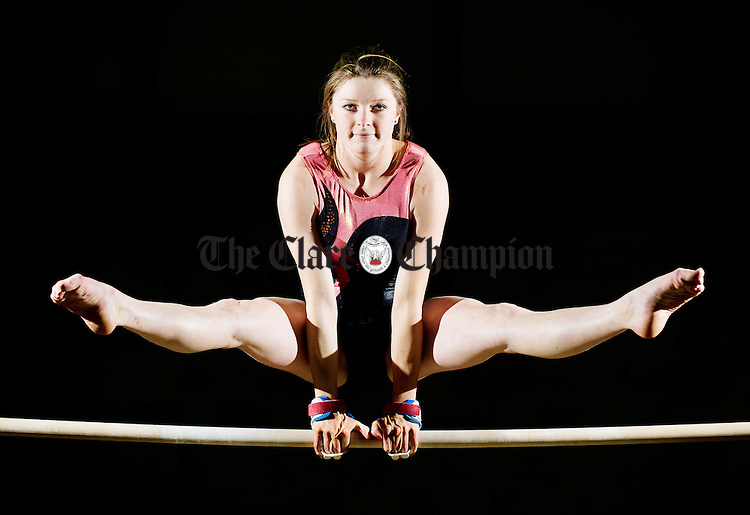 Fourteen year old Jane Taylor of Ennis Gymnastics Club who has qualified to join the Irish National Junior U-16 squad. Photograph by John Kelly.