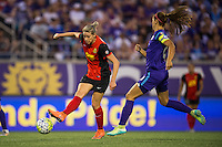 Orlando, Florida - Sunday, May 14, 2016: Western New York Flash defender Alanna Kennedy (8) during a National Women's Soccer League match between Orlando Pride and New York Flash at Camping World Stadium.