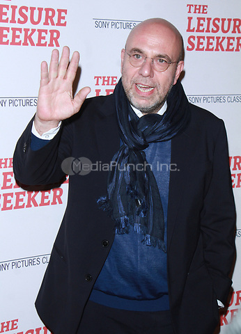 NEW YORK, NY January 11, 2018:Paolo Virzi attend Sony Pictures Classics  present screening of The Leisure Seeker  at AMC Loews Lincoln Square  in New York City.January  11, 2018. Credit:RW/MediaPunch