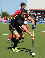 Kane Russell in action during Olympic Qualifier Hockey match between the Blacksticks Men and Korea at TET Multisport Centre in Stratford, New Zealand on Saturday, 2 November 2019. Photo: Simon Watts / www.bwmedia.co.nz