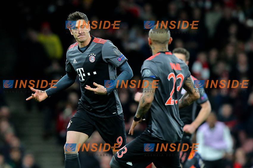 Londra (Inghilterra) 07/03/2017 - Champions League / Arsenal-Bayern Monaco / foto Imago/Insidefoto <br /> Robert Lewandowski Esultanza Gol <br /> ITALY ONLY