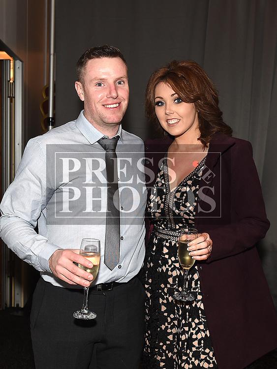 Gordon Kirwan and Sabrina Moore at the Dreadnots GFC annual Dinner in the Westcourt Hotel. Photo:Colin Bell/pressphotos.ie
