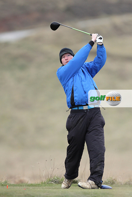 James McLaughlin (Portumna) on the 6th tee during Round 2 of the West of Ireland Amateur Open Golf Championship 2013 at Co.Sligo Golf Club, Rosses Point, Co.Sligo. 30/03/2013...(Photo Jenny Matthews/www.golffile.ie)