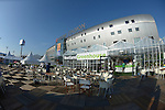 The Hague, Netherlands, June 08: View of the Kyocera Stadium from the Stadium Plaza with Westland Greenhouse in front on June 8, 2014 during the World Cup 2014 at Kyocera Stadium in The Hague, Netherlands. (Photo by Dirk Markgraf / www.265-images.com) *** Local caption ***
