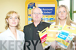 SCHEME: Launching details of a new banking initiative for famrers at Tralee Post Office on Tuesday were Martina Leen, Gerard Fitzgerald and Fiona Sheehan.   Copyright Kerry's Eye 2008