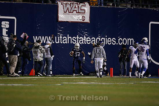 Utah State vs. Boise State college football Friday, November 20 2009.