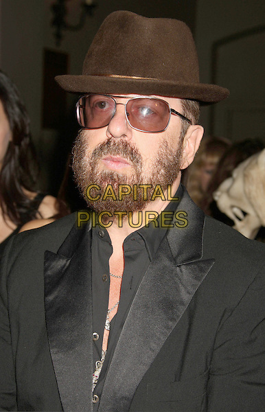 "DAVE STEWART .At Go Campaign's 2nd Annual ""Go Go Gala"" held at Social, Hollywood, California, USA, .20th November 2009..portrait headshot tinted glasses brown hat grey gray black beard facial hair sunglasses .CAP/ADM/MJ.©Michael Jade/AdMedia/Capital Pictures."